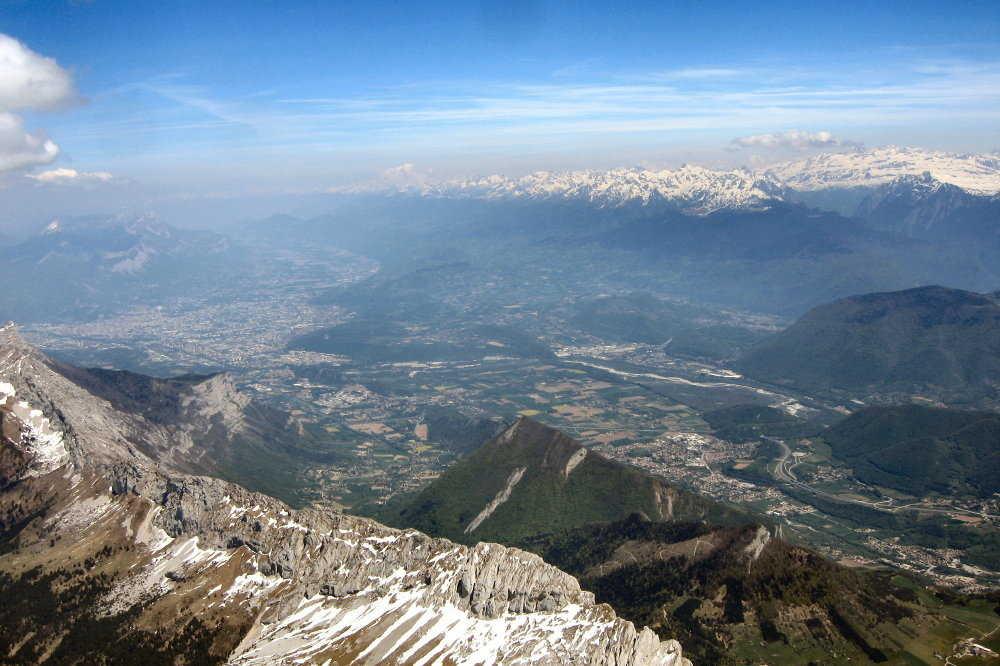 13 h 40 crètes du gerbier, Vercors, Charteuse, Belledonne, Mt Blanc