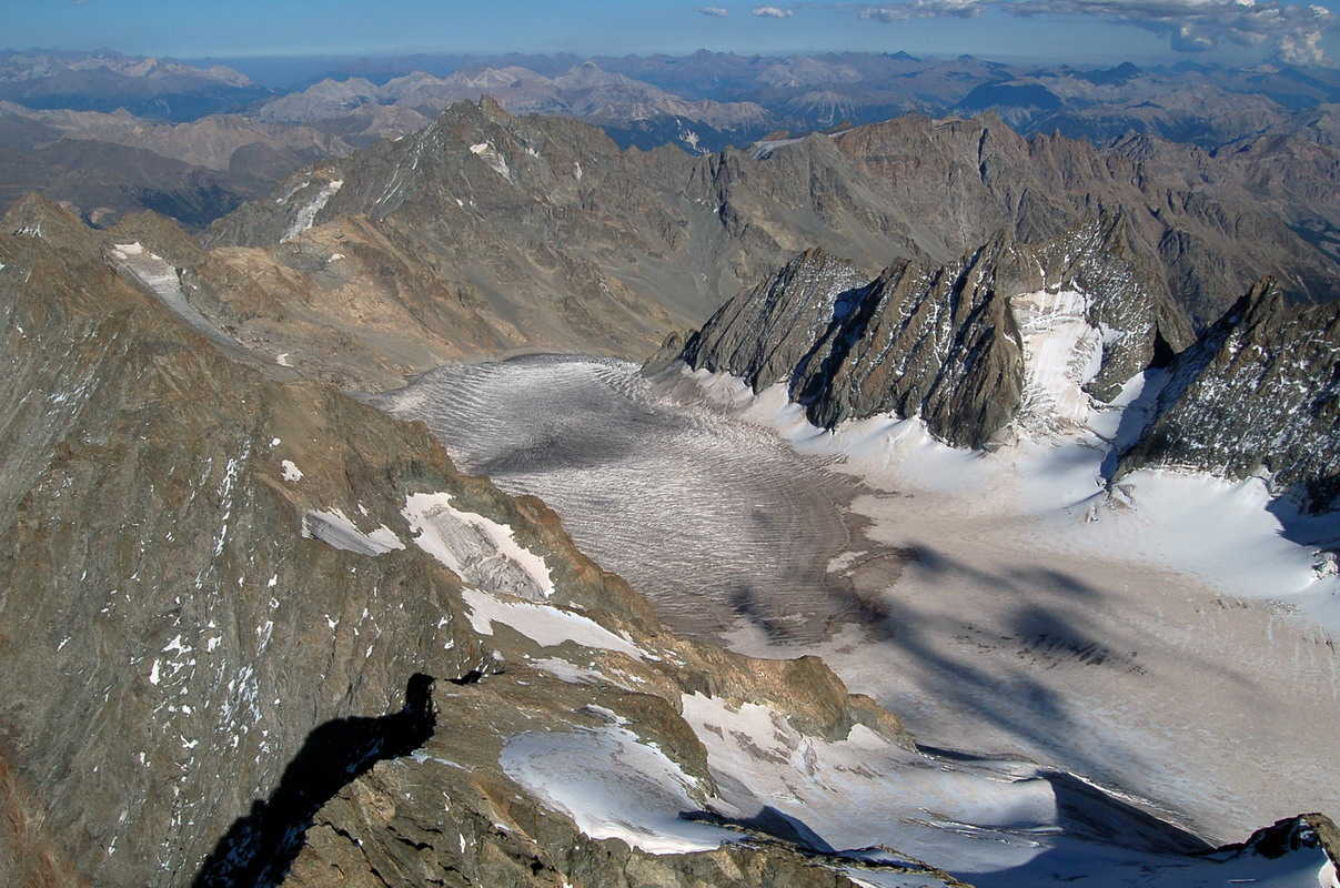 vue sur le glacier Blanc
