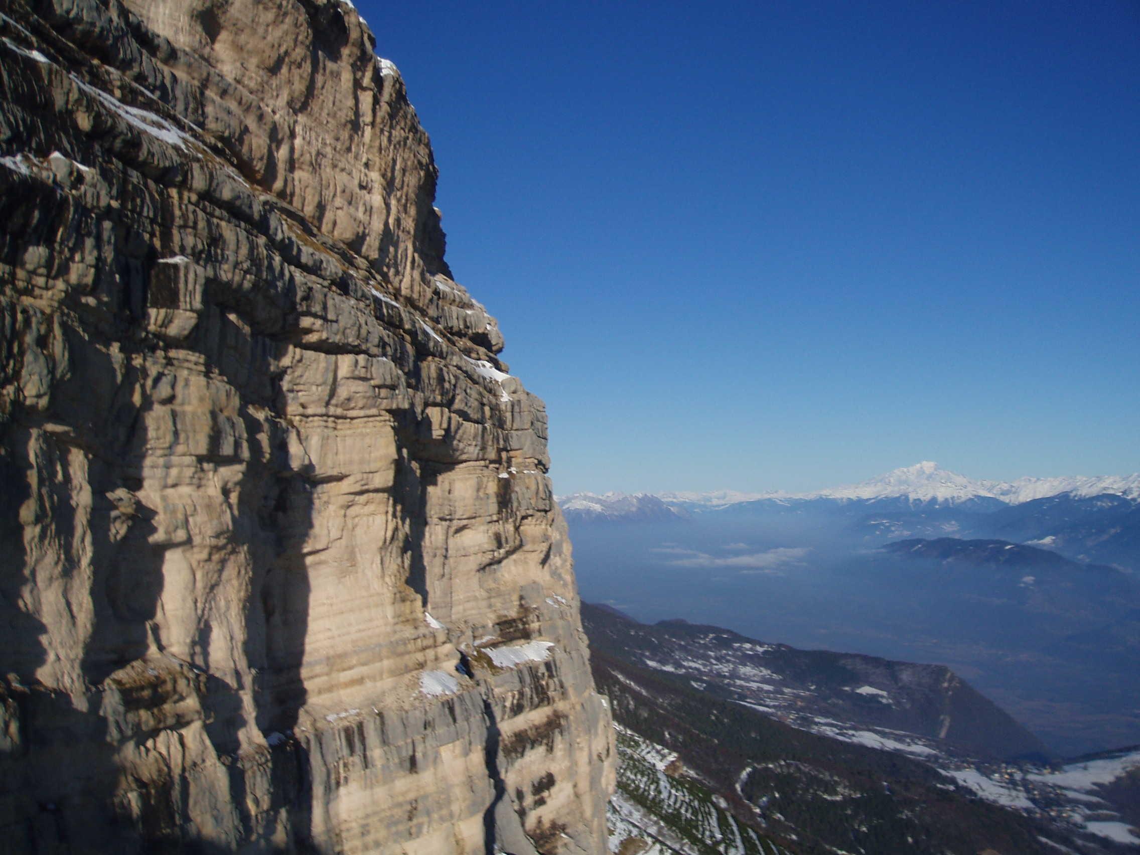 Falaises orientales et Mont blanc