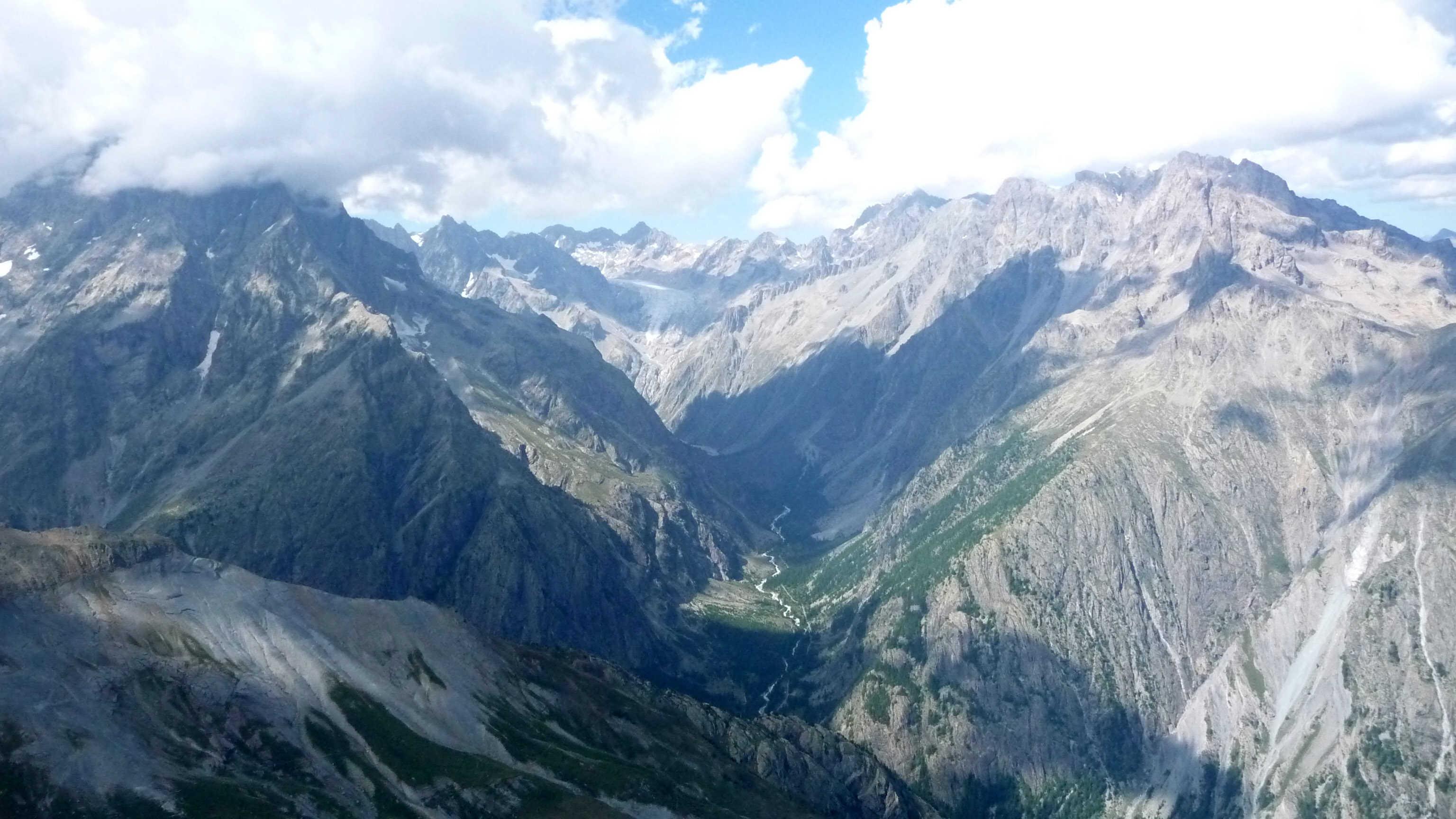 le pelvoux et le glacier blanc
