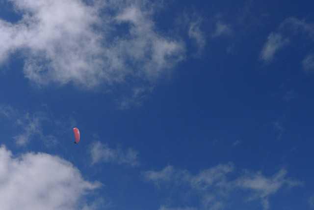 Eric dans les nuages avant sa promenade vers le Moucherotte