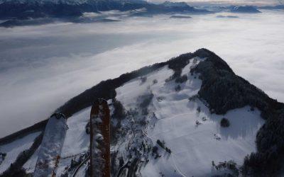 Premier vol à ski