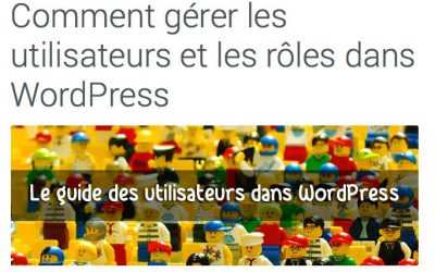 Les rôles dans WordPress
