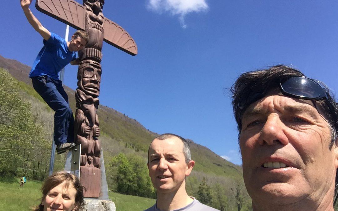 Montlambert et topo du sentier de montée