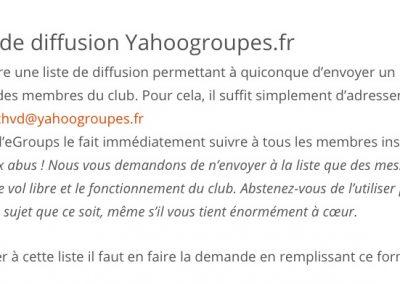 La liste de diffusion Yahoogroupes.fr